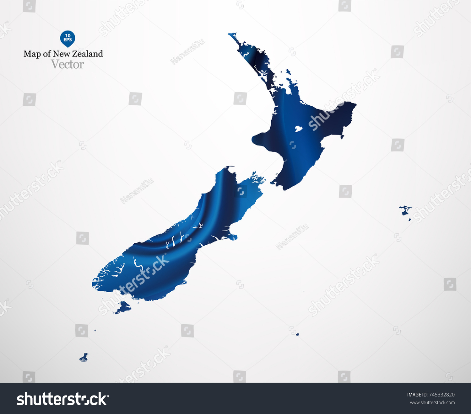 Map new zealand blue fabric draping stock vector 745332820 map of new zealand with blue fabric draping background in vector gumiabroncs Image collections