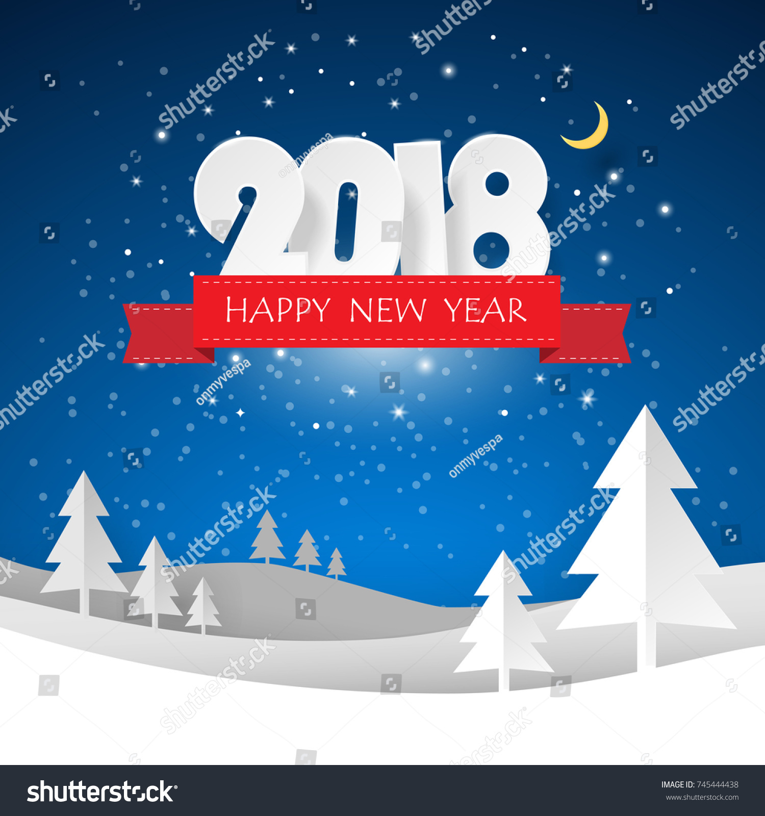 Design Christmas Greeting Card Happy New Stock Vector Royalty Free