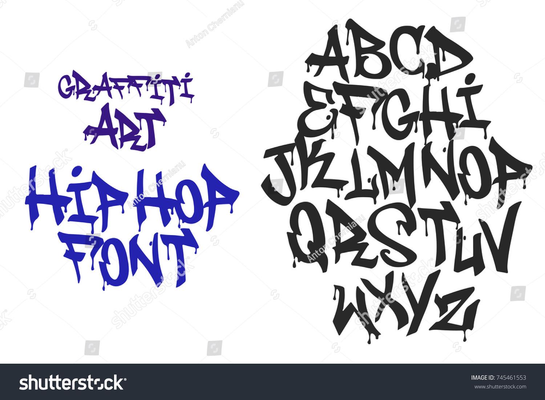 Graffiti Hip Hop Black Letters Tag Alphabet Font