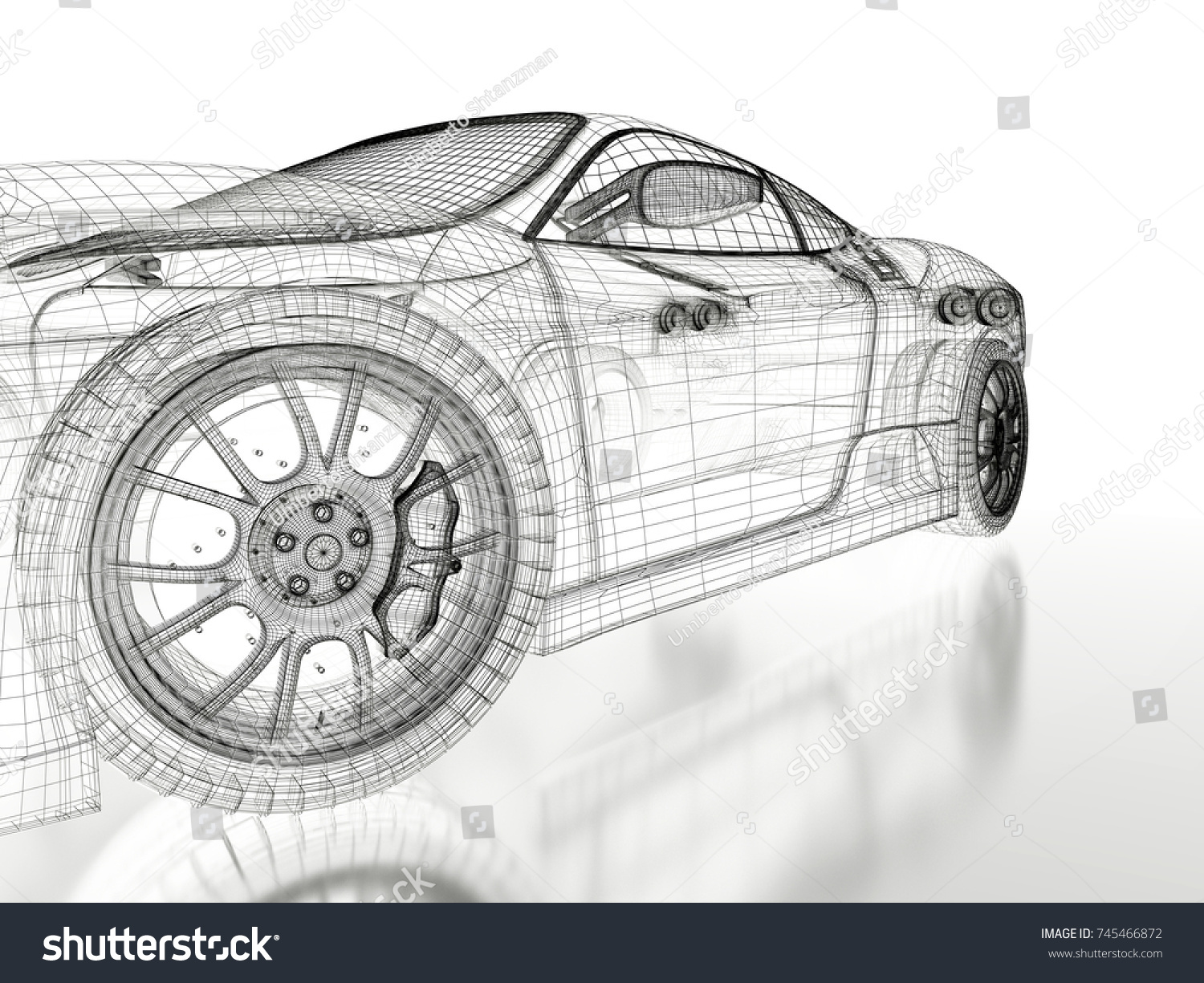 Car vehicle 3 d blueprint mesh model stock illustration 745466872 car vehicle 3d blueprint mesh model on a white background 3d rendered image malvernweather Image collections
