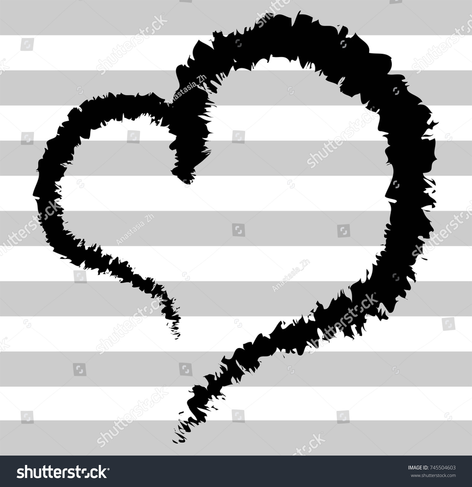 Black air heart on striped background stock vector 745504603 black air heart on striped background seamless background a little smoky heart buycottarizona Images