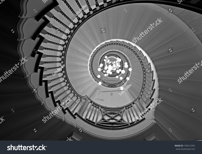 Cecil Brewer Spiral Staircase Heals Furniture Stock Photo ... | heals furniture store
