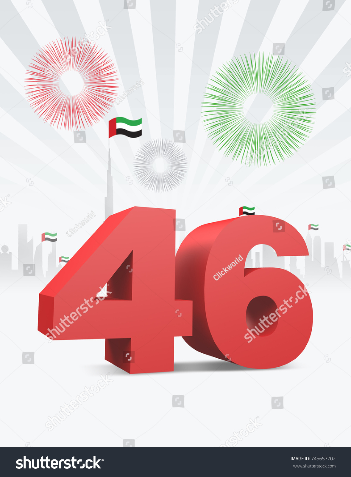 46th uae national day 3 d rendering stock illustration 745657702 46th uae national day 3d rendering stopboris Choice Image
