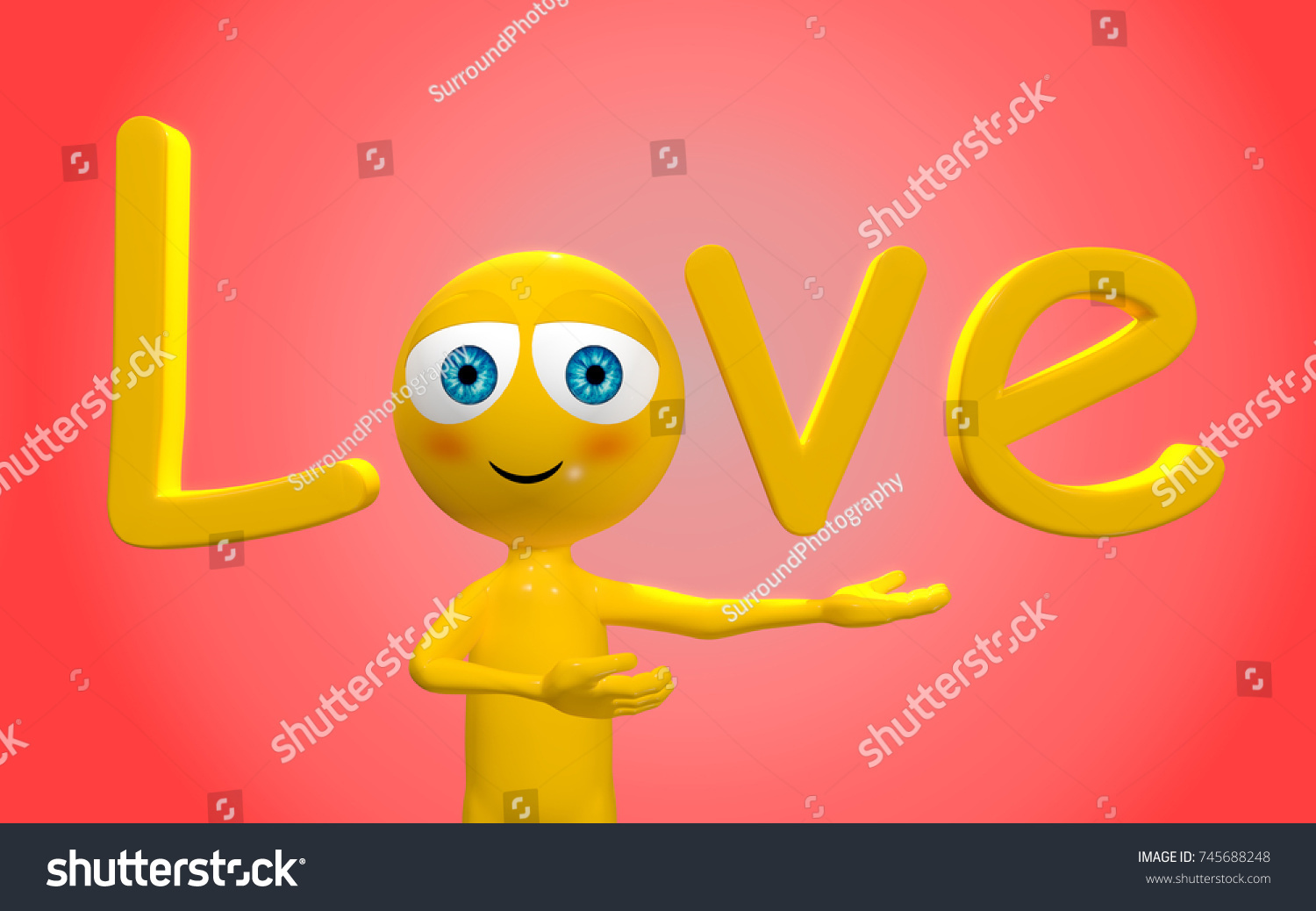 Emoji Person Presenting The Word Love The Word Love Is Spelled