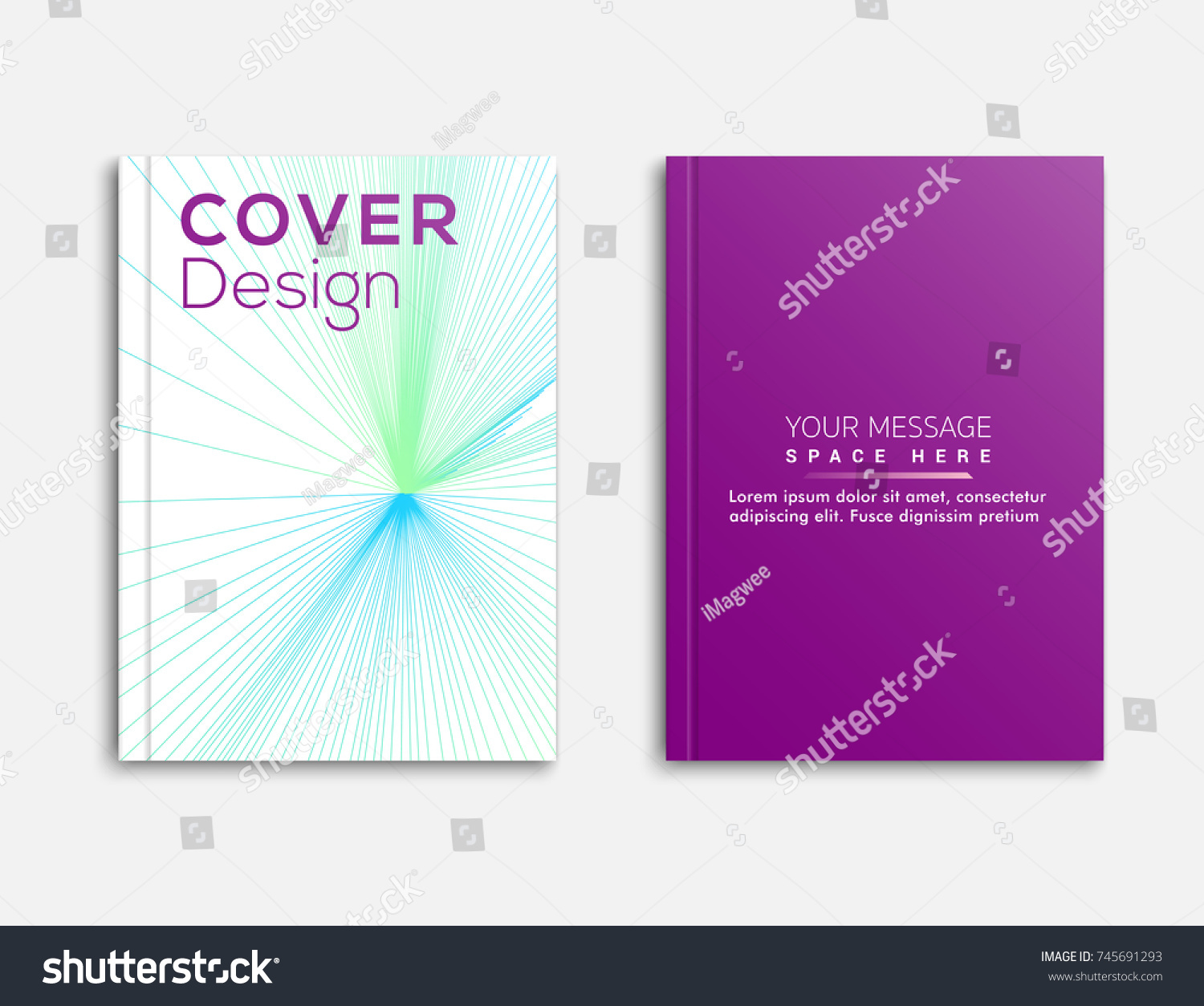 Abstract Design Business Brochure Flyer Cover Stock Vector 745691293 ...