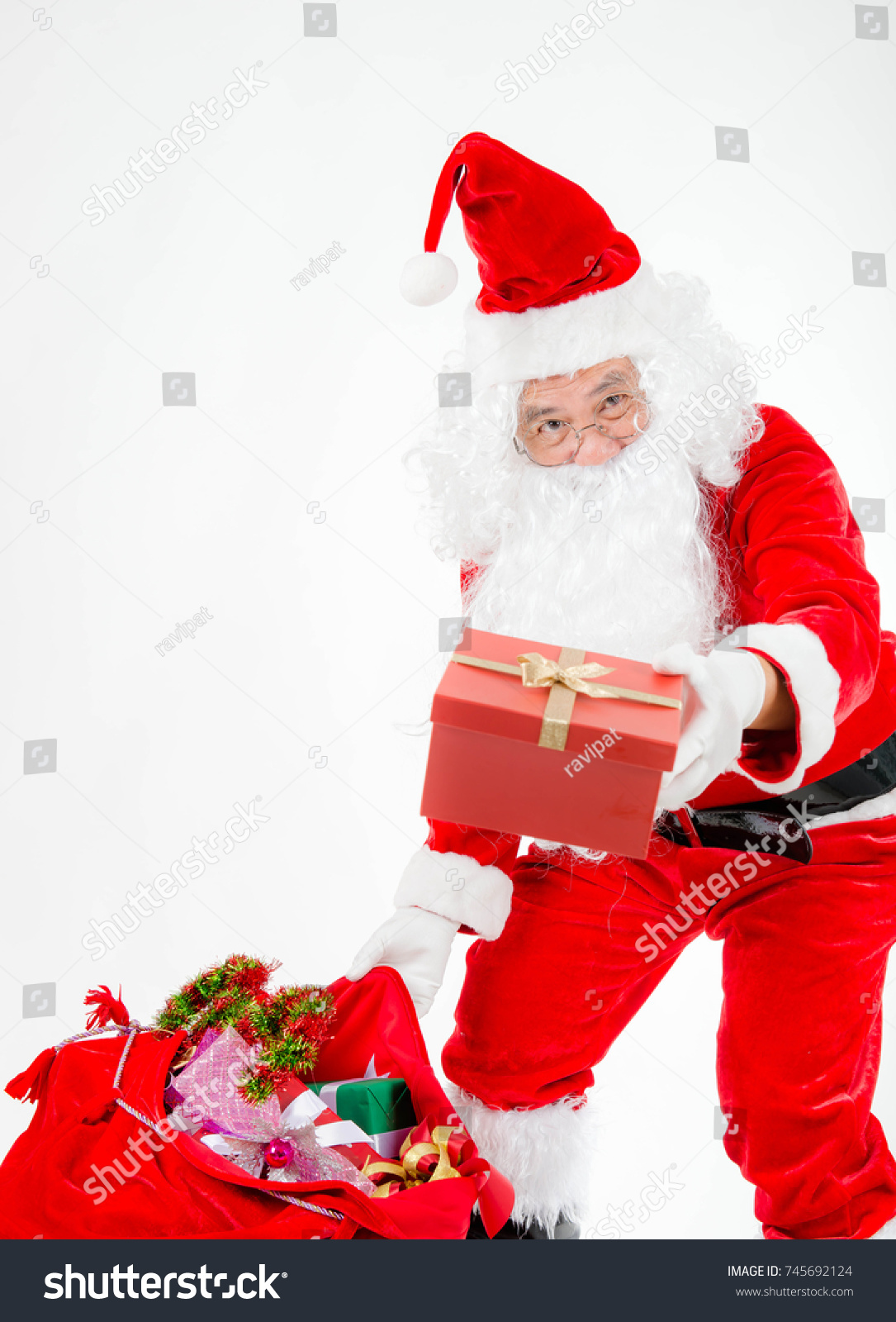 Santa Claus Carrying Gifts Children Father Stock Photo (Edit Now ...