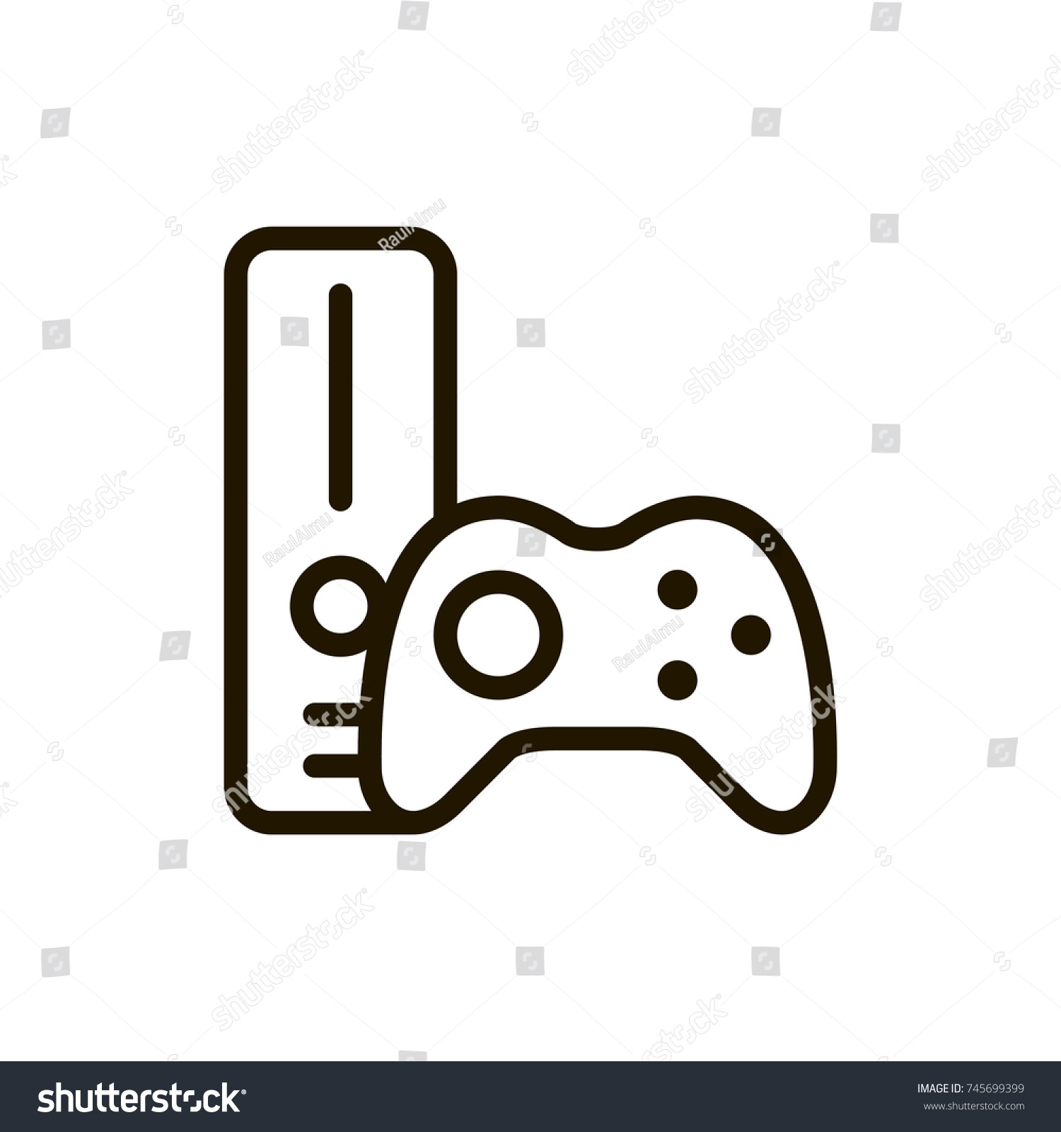 Game Console Flat Icon Single High Stock Vector Royalty Free