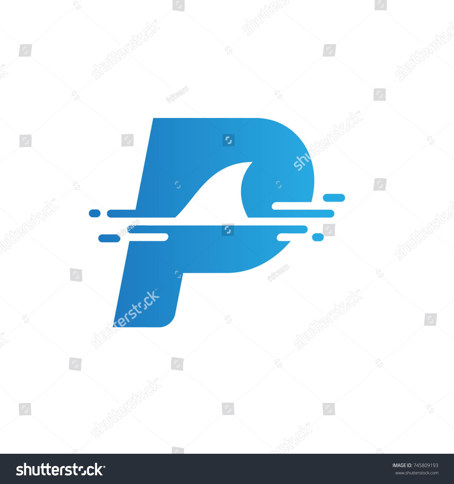 Letter p shark symbol illustration logo stock vector 745809193 letter p shark symbol illustration logo and icon element template biocorpaavc
