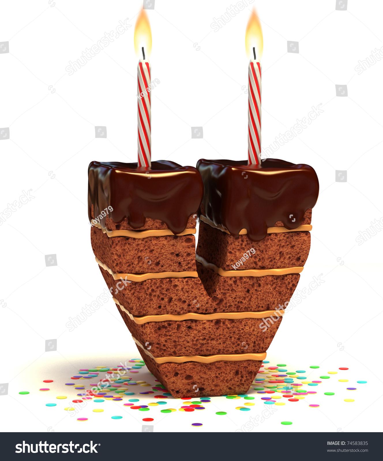 Birthday Cake With Alphabet S