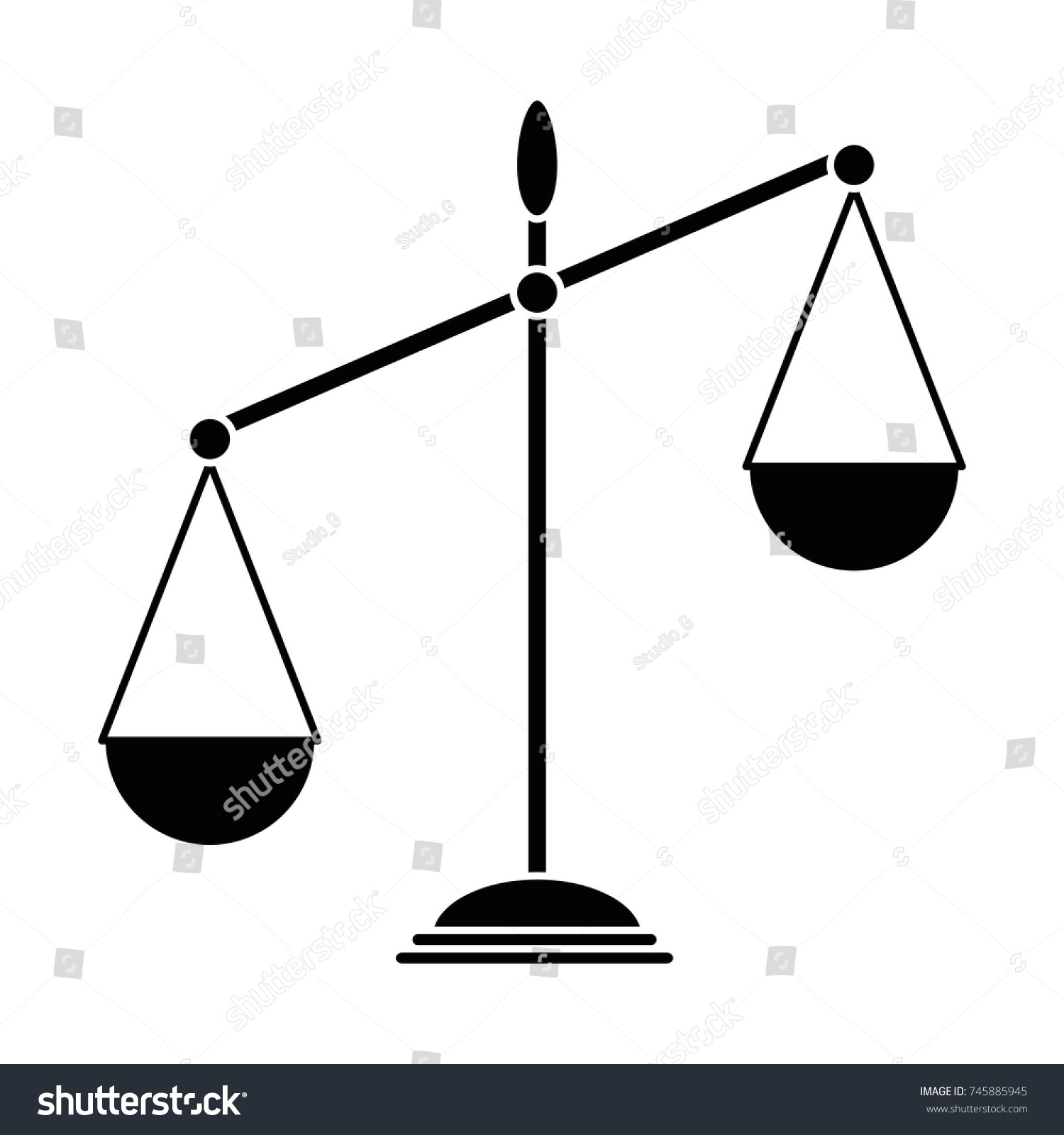 Balance scale isolated icon stock vector 745885945 shutterstock balance scale isolated icon biocorpaavc Images
