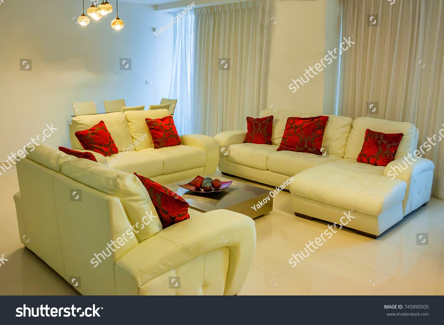 Foyer Hotel : Foyer hotel white sofas red cushions stock photo royalty free