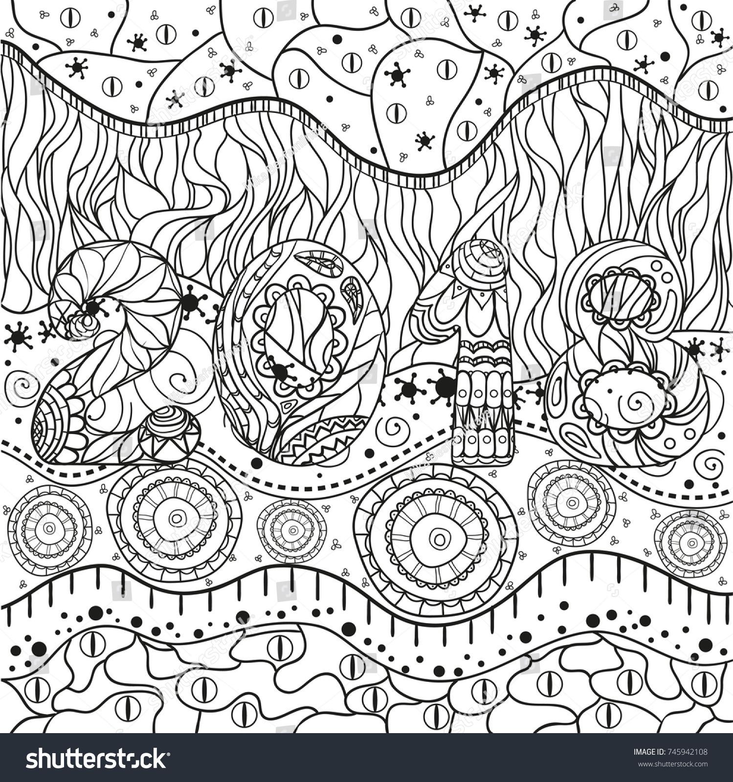 2018 Happy New Year Hand Drawn Stock Illustration - Royalty Free ...