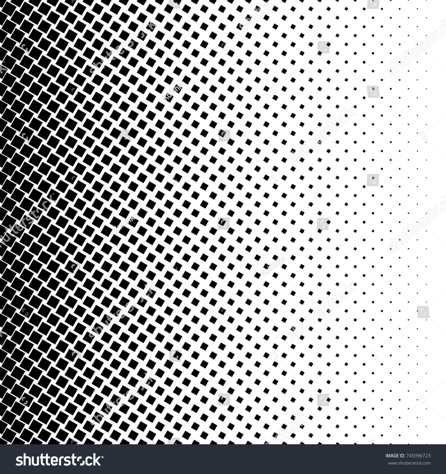 Halftone Square Dot Vector Texture Halftone Stock Vector Royalty