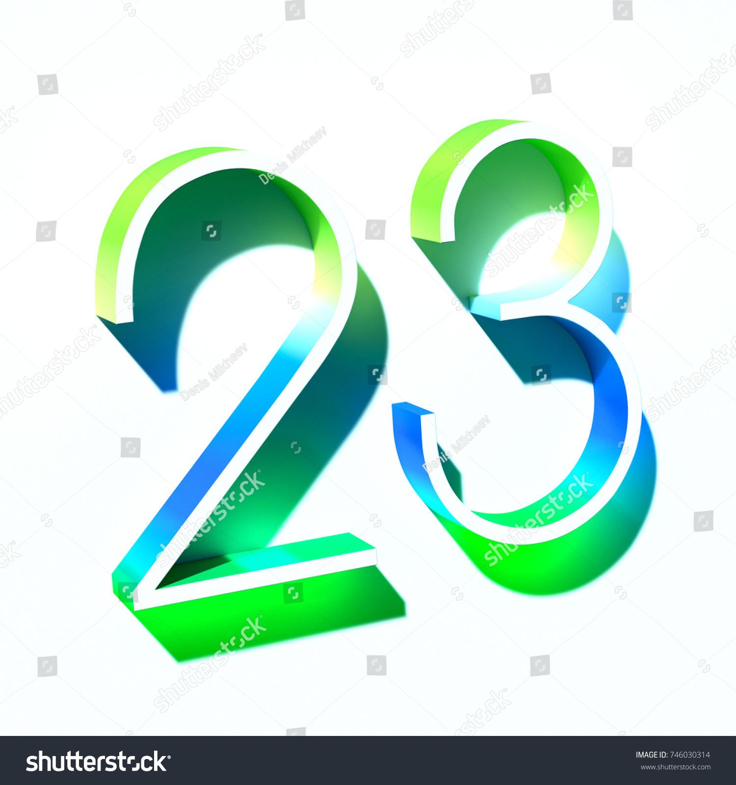 Number Twenty Three 23 Blue Green Stock Illustration 746030314 ...