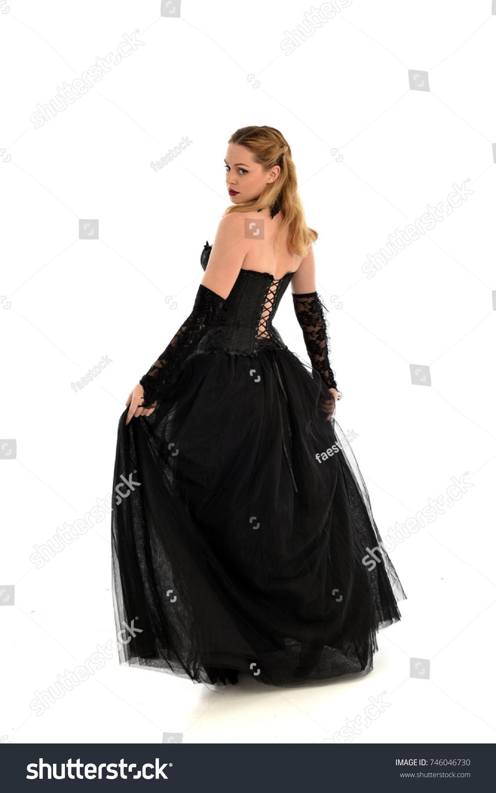 Full Length Portrait Blonde Girl Wearing Stock Photo (Edit Now ...