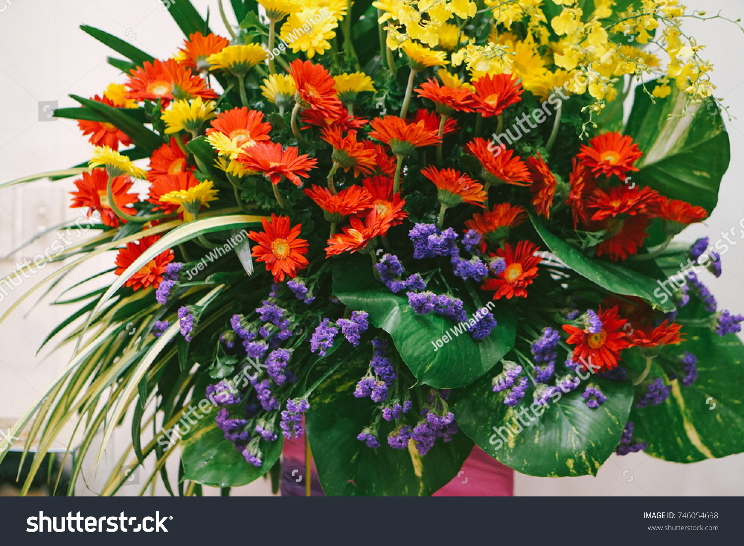 Mixed Flower Bouquet Flower Design Flower Stock Photo (Royalty Free ...