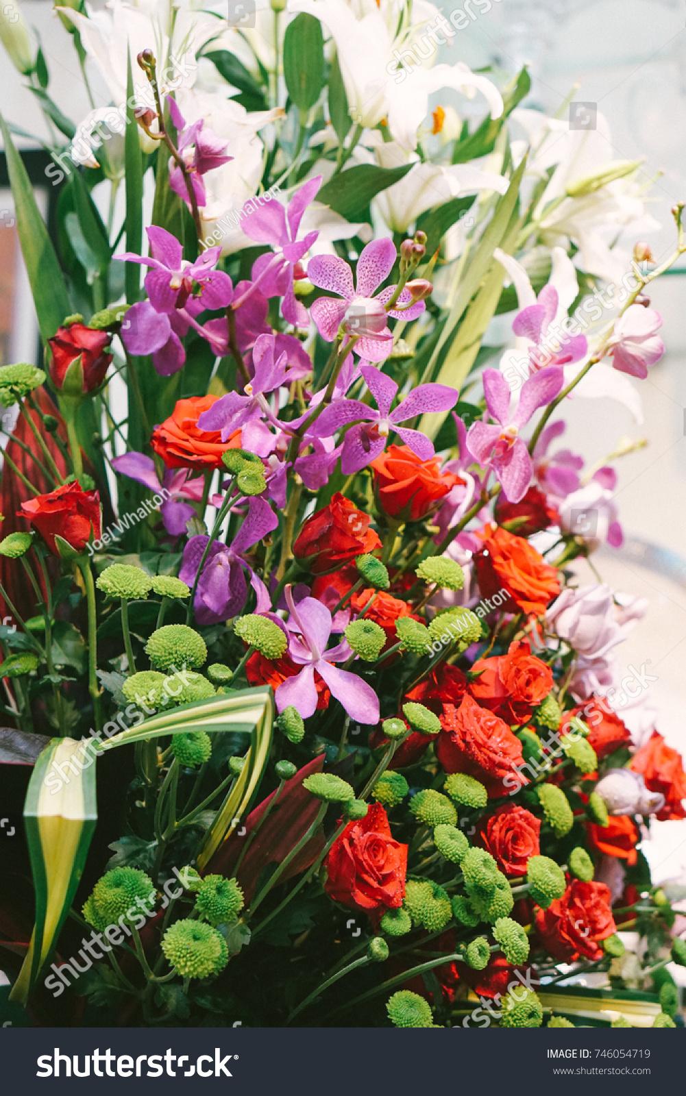 Mixed Flower Bouquet Flower Design Flower Stock Photo (Royalty Free ...
