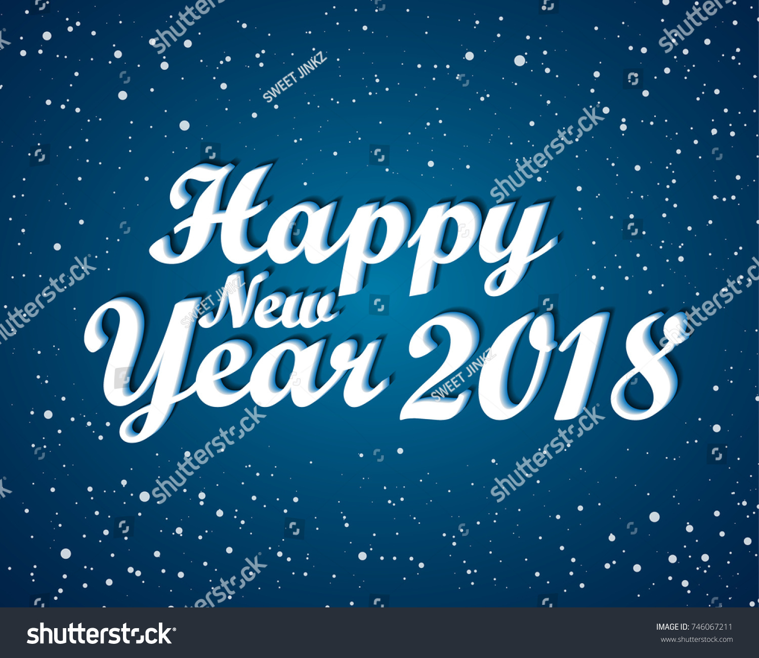 happy new 2018 year greetings card stock vector 746067211