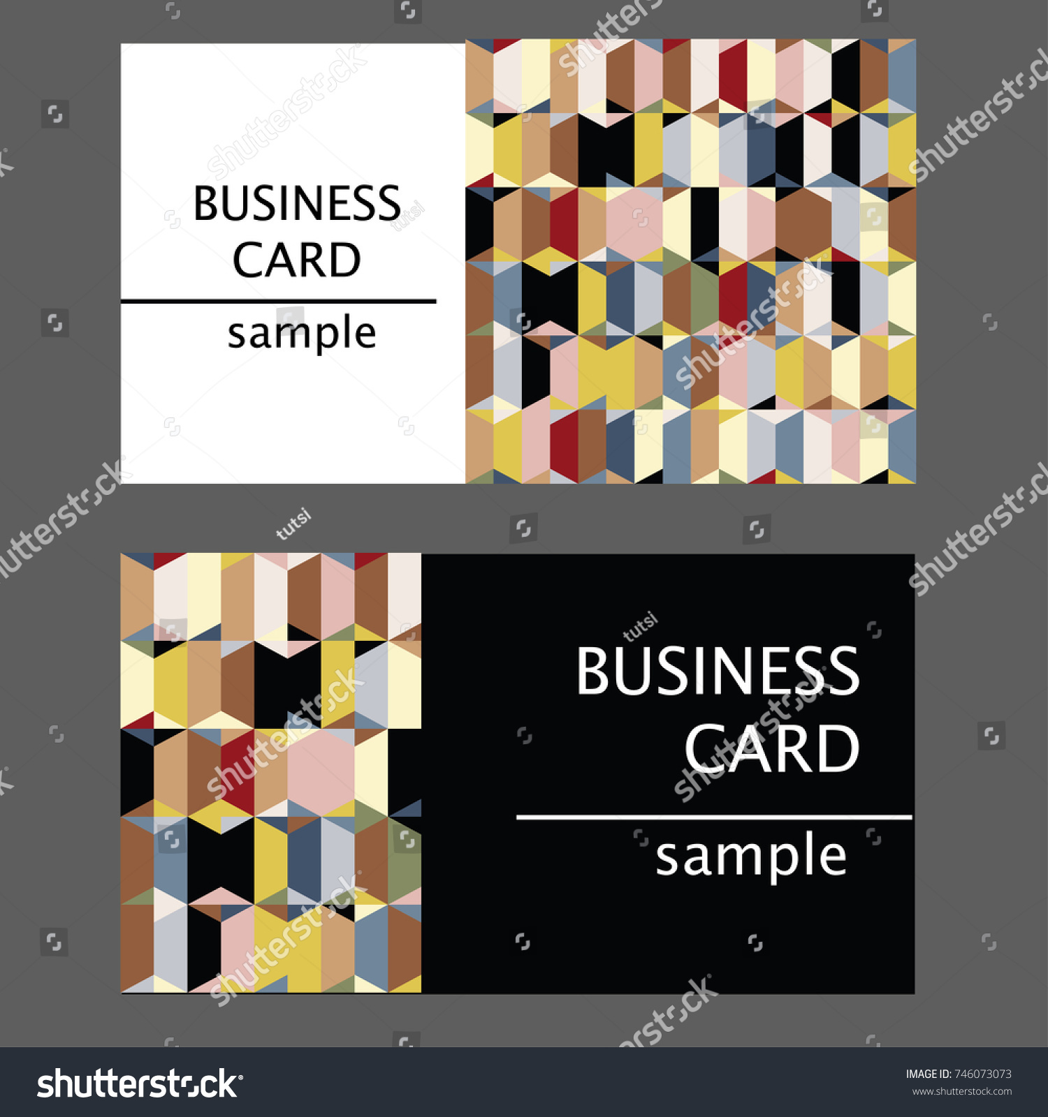 Samples business cards abstract mosaic pattern stock vector samples of business cards with an abstract mosaic pattern magicingreecefo Gallery