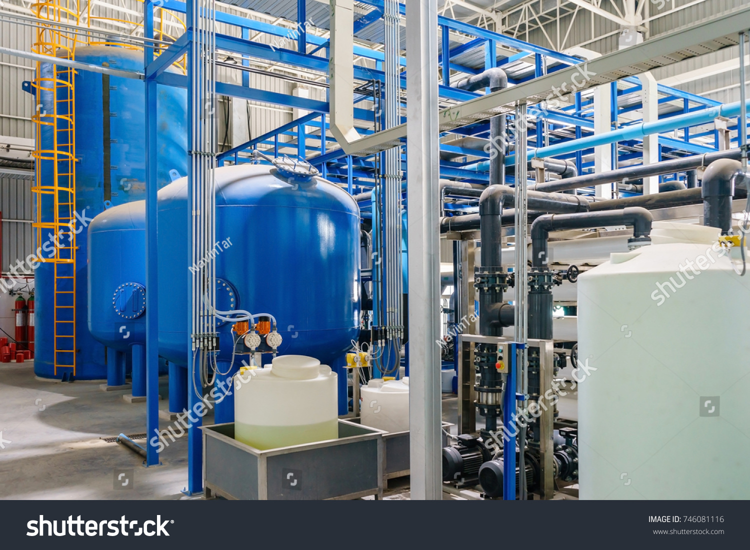 Large Industrial Water Treatment Boiler Room Stock Photo (Edit Now ...