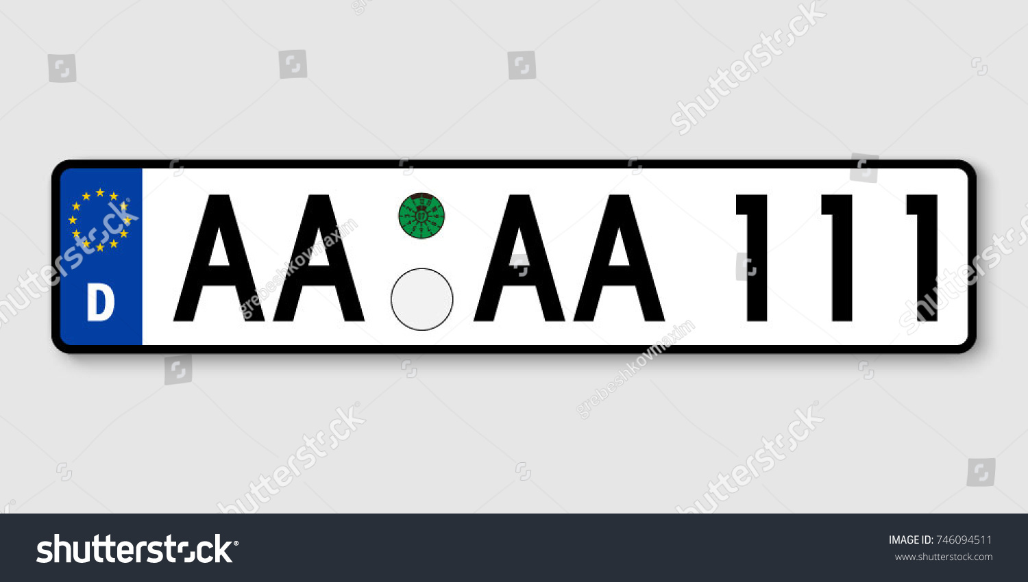 Number Plate Vehicle Registration Plates Germany Stock Vector ...