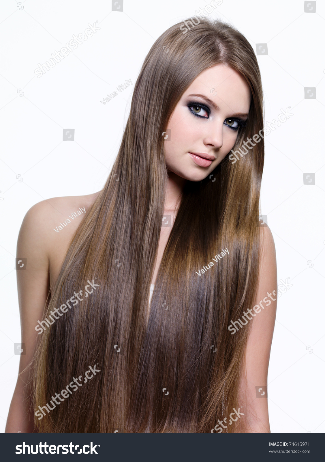 Beautiful Smooth Long Straight Hair Young Stock Photo 74615971 - Shutterstock