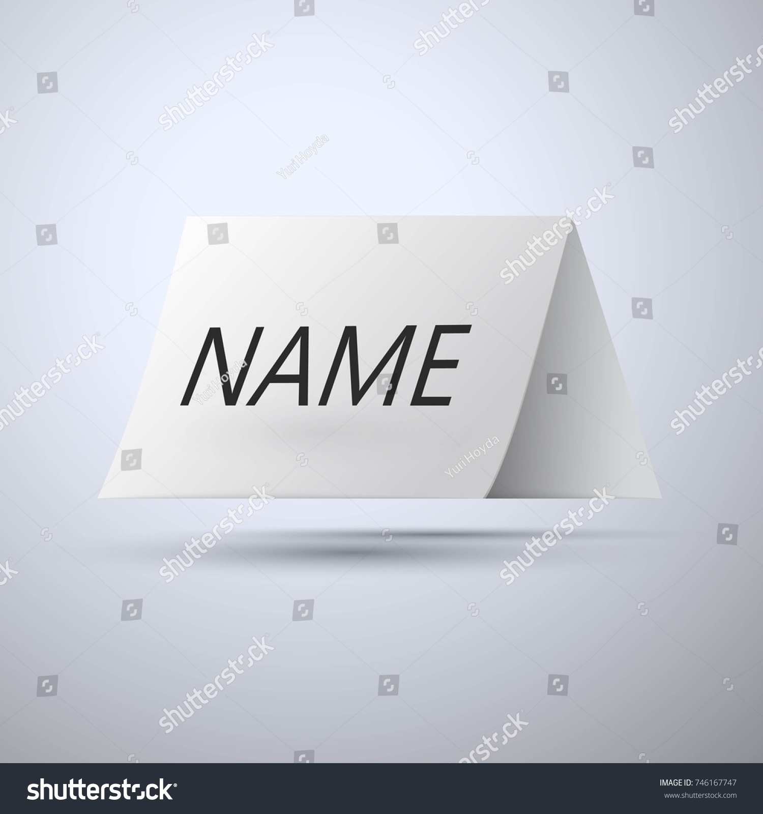 Paper Nameplate Vector Stock Vector Royalty Free 746167747