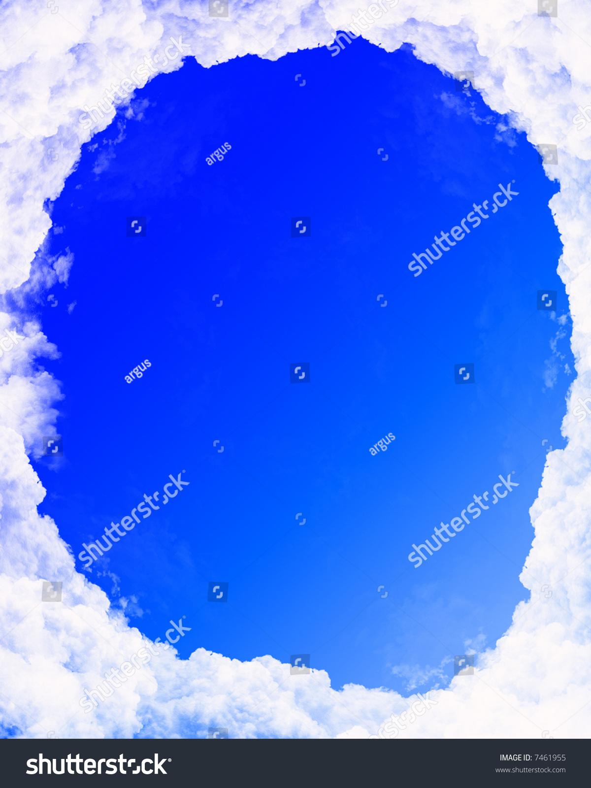 Cloud Frame Stock Illustration 7461955 - Shutterstock