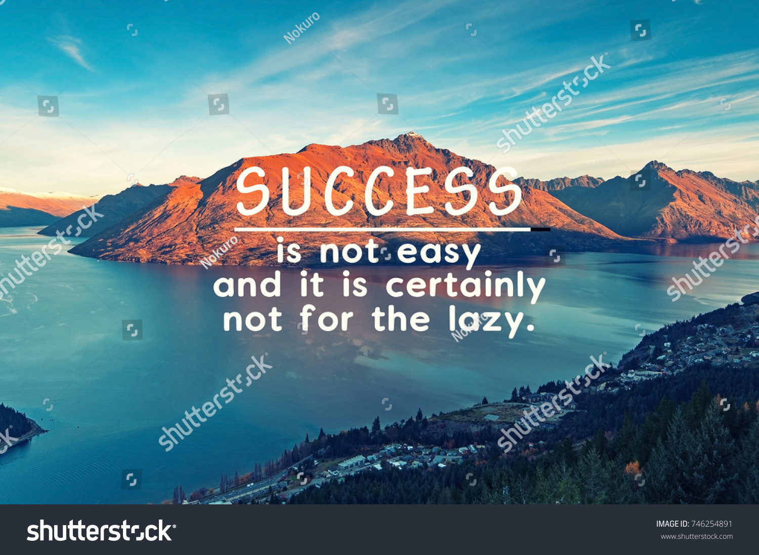 Life Is Not Easy Quotes Life Inspirational Quotes Success Not Easy Stock Photo 746254891