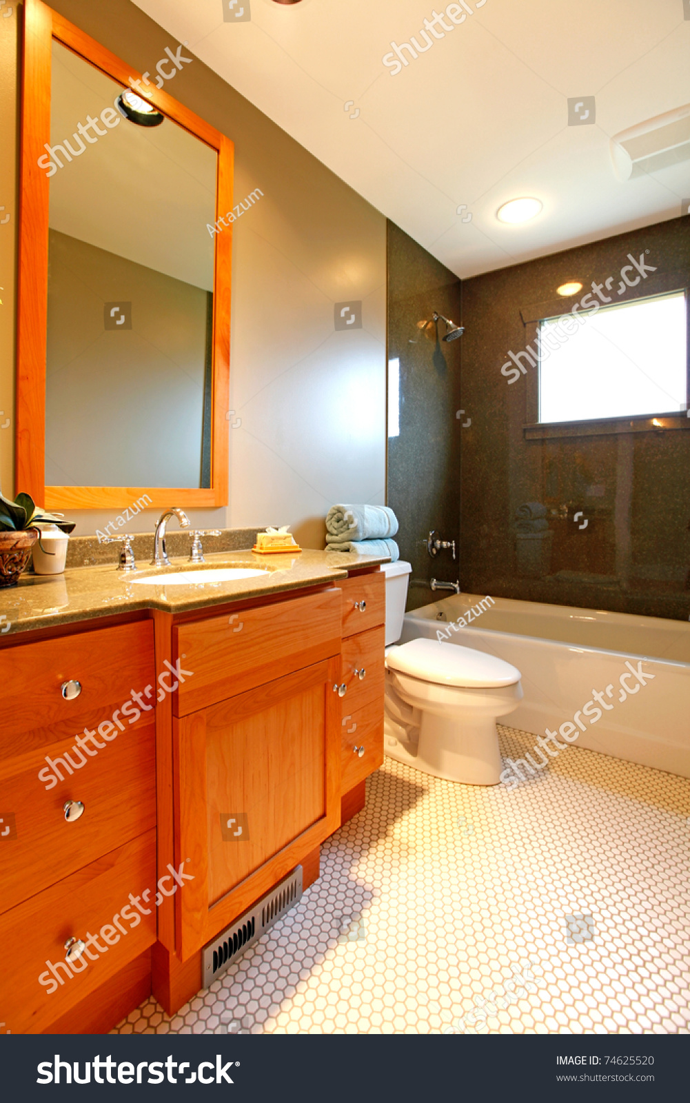 new beautiful bathroom in a small cute old house in tacoma wa