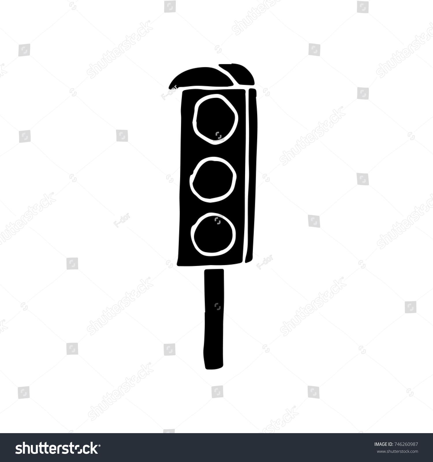 Traffic Light Vector Sketch Stock Vector 746260987 - Shutterstock for Traffic Light Sketch  181pct