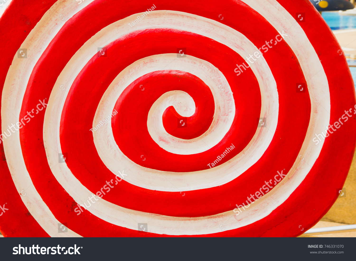 Red Lollipop Background Sweet Candy Circle Stock Photo (Edit