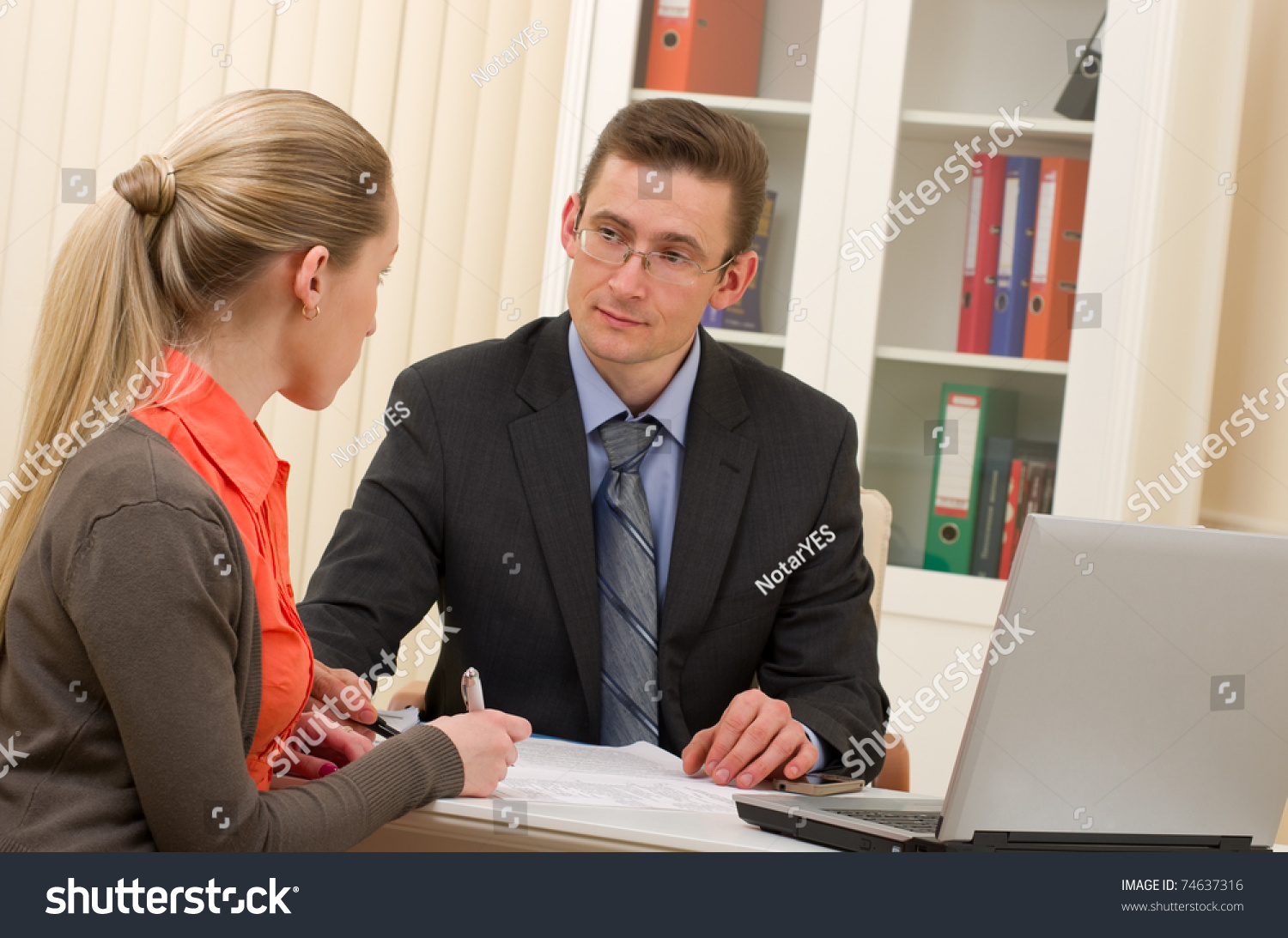 manager man and businessw on interview in the office stock save to a lightbox