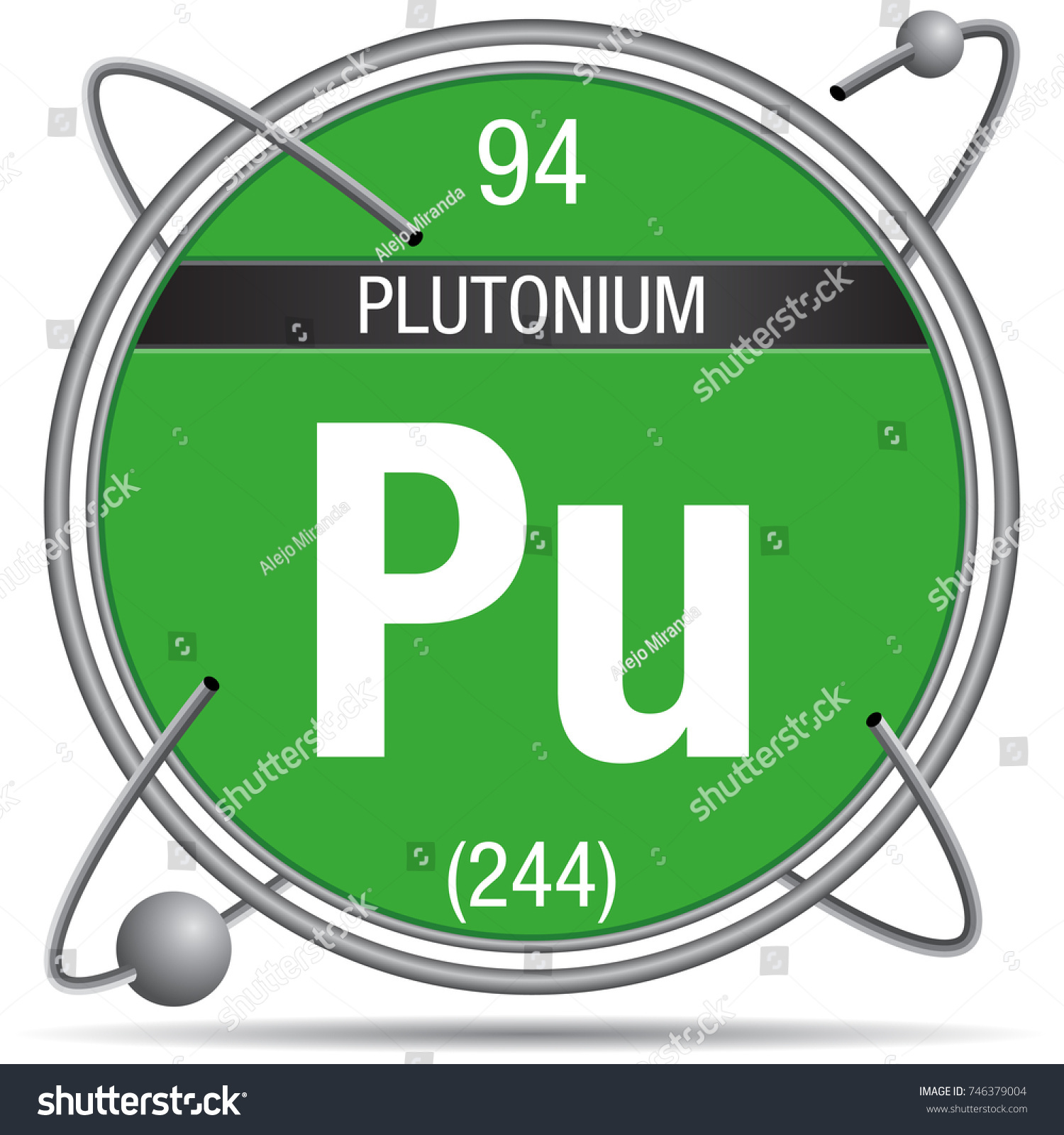 Plutonium symbol inside metal ring colored stock vector 746379004 plutonium symbol inside a metal ring with colored background and spheres orbiting around element number biocorpaavc Image collections