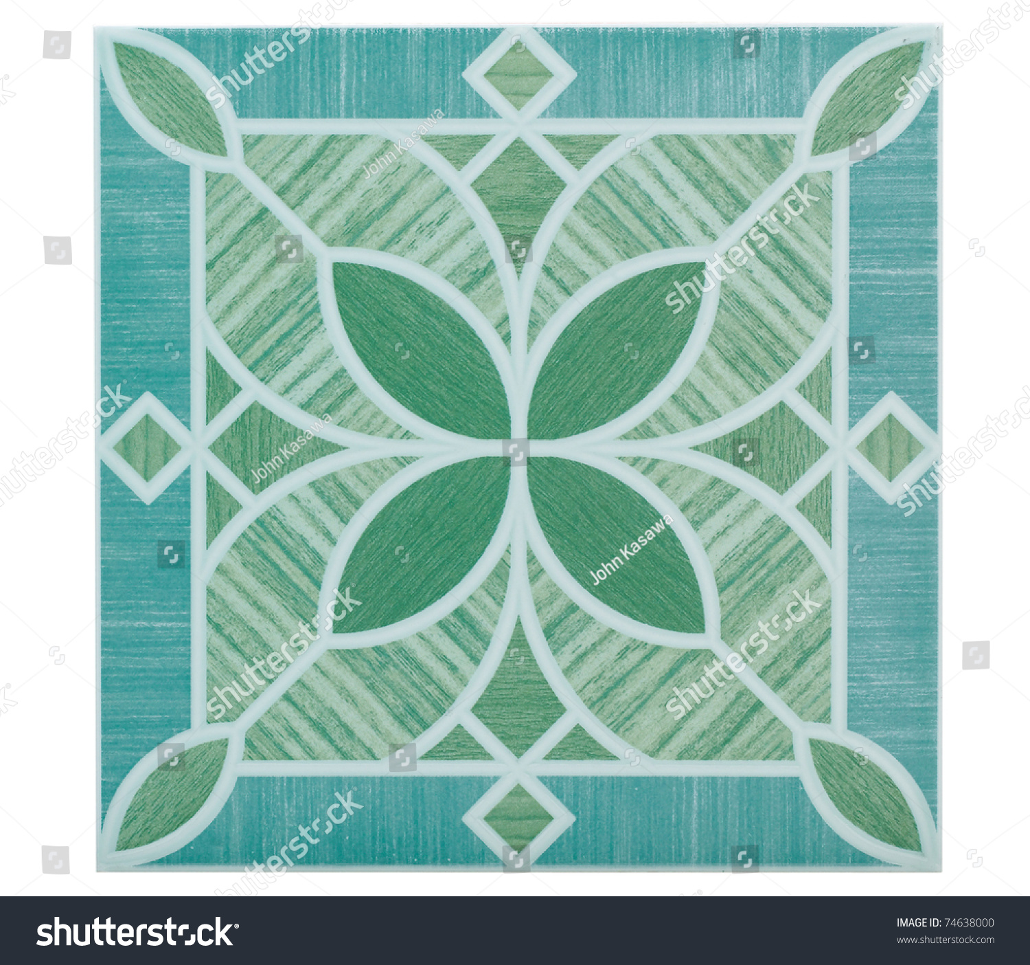 Flower Pattern Floor Tile Wall Tile Stock Photo (Download Now ...