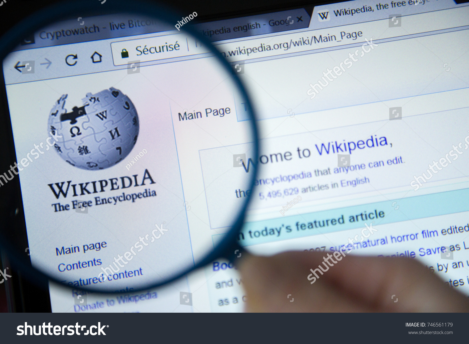 Paris France October 19 2017 Wikipedia Stock Photo Edit Now Circle Diagram The Free Encyclopedia Homepage On Computer Screen Under