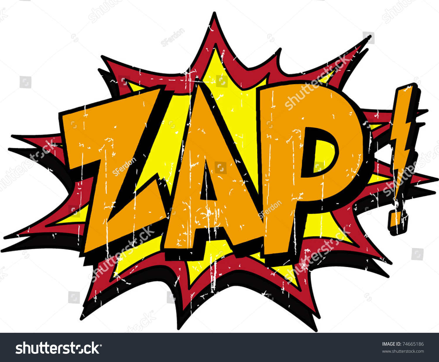 Zap Stock Vector Illustration 74665186 : Shutterstock