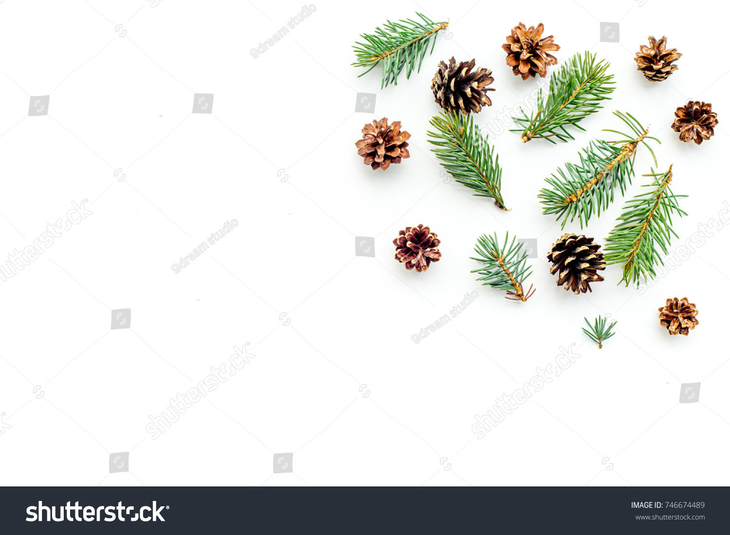 New year symbols pattern spruce branches stock photo 746674489 new year symbols pattern spruce branches and cones on white background top view copyspace biocorpaavc Image collections