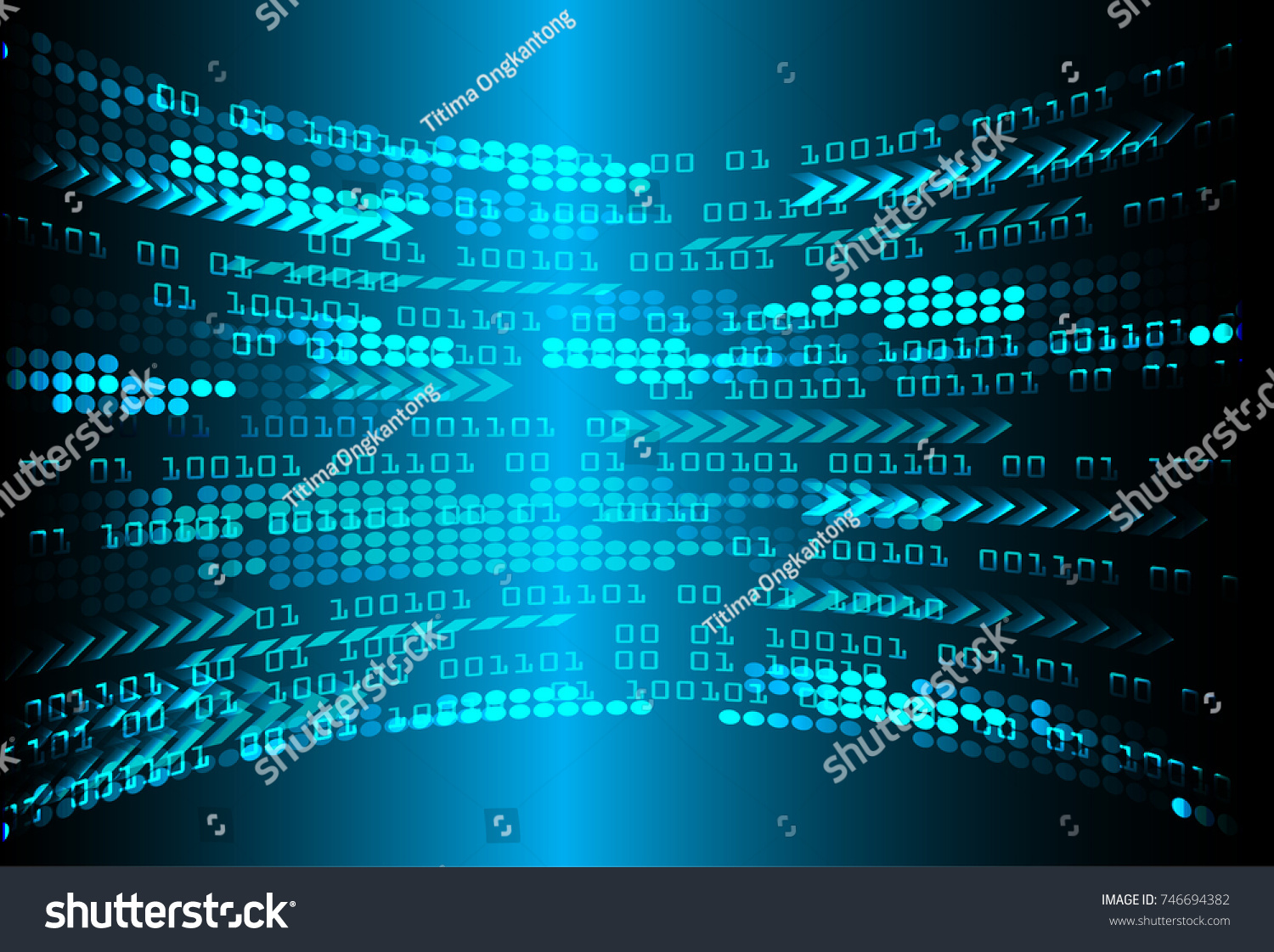 Binary Circuit Board Future Technology Blue Cyber Security Concept Abstact Background With And Code Stock Images Id 746694382