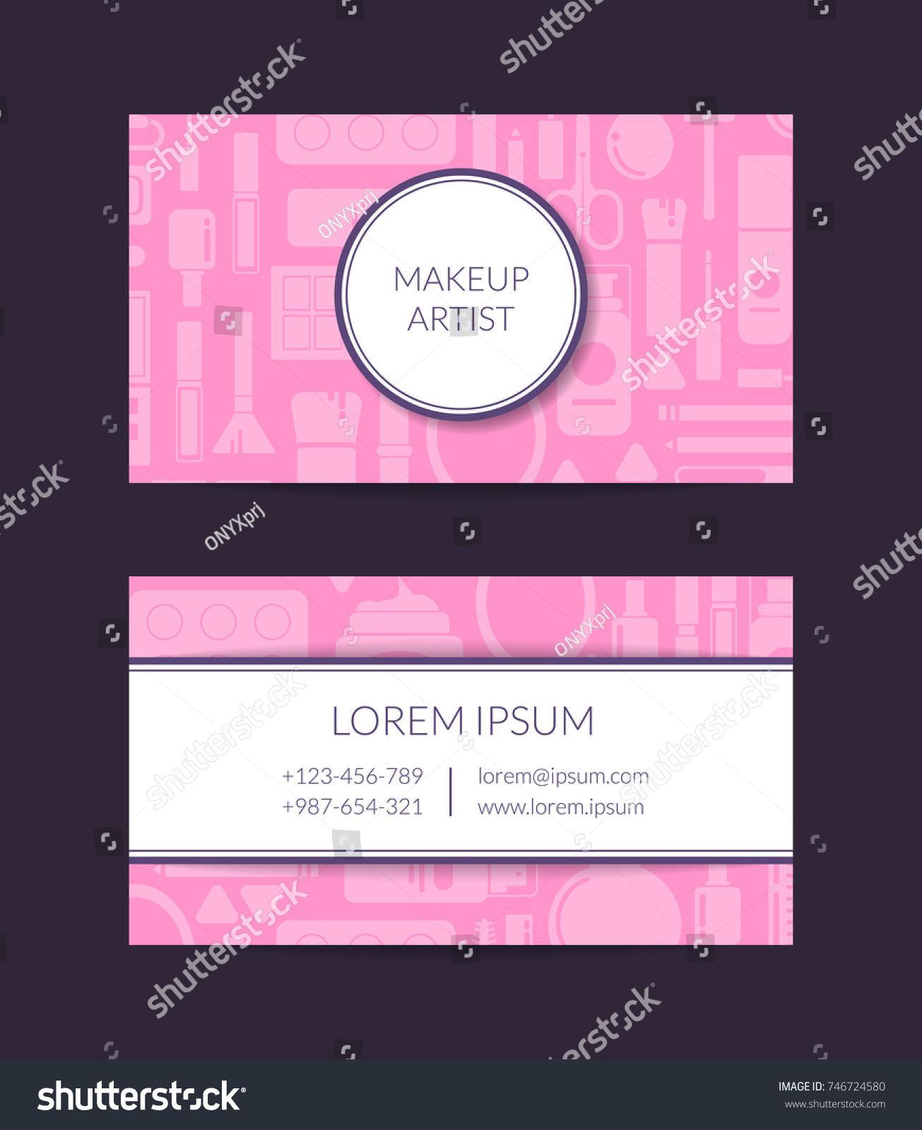 Vector Business Card Template Beauty Brand Stock Vector (2018 ...