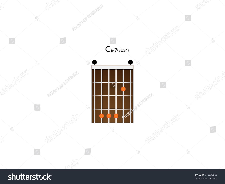 Chord Guitar C 7 Sus 4 Stock Vector Royalty Free 746730556
