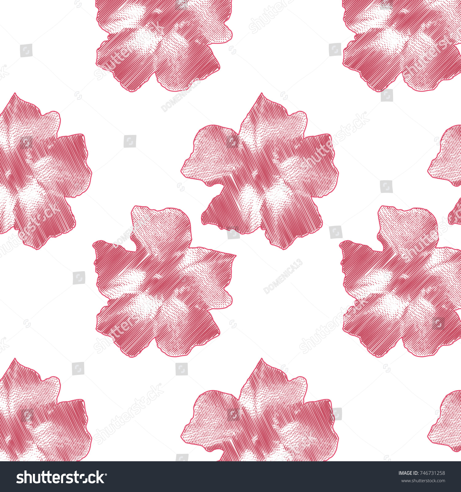 Delicate Pink Flowers On White Background Stock Illustration