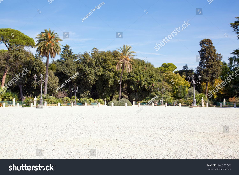 Park Surrounding Terrazza Del Pincio On Stock Photo Edit