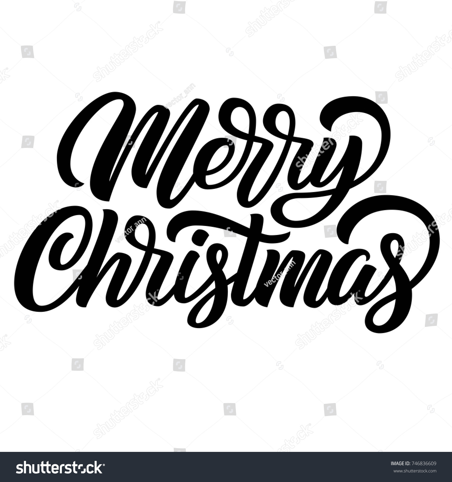 id 746836609 - Merry Christmas Black And White