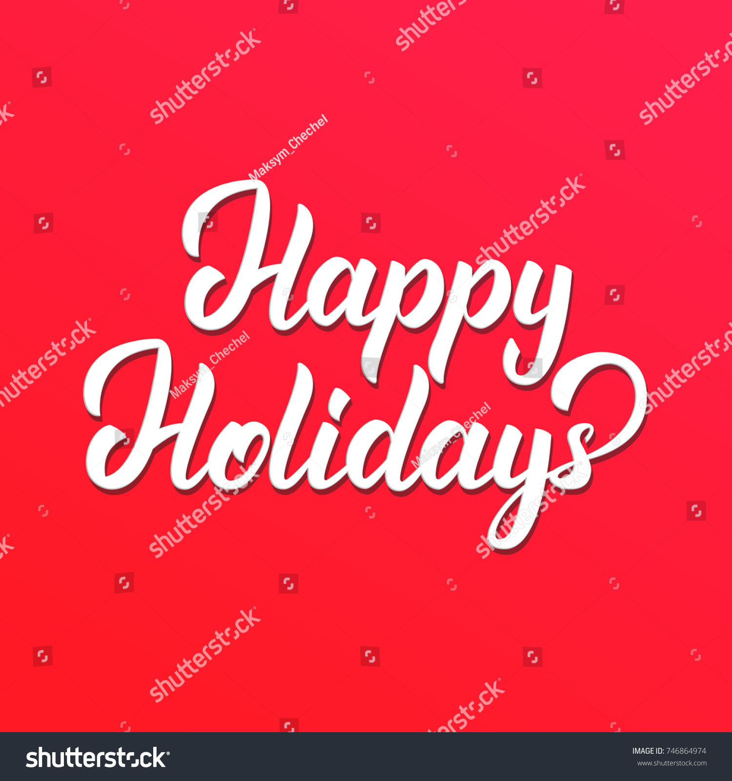Happy Holidays Text Lettering Design Christmas And New Year