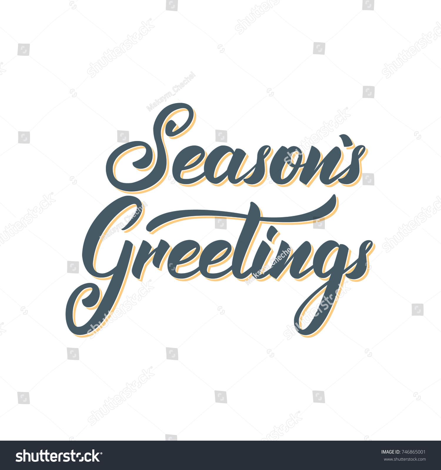 Seasons greetings text lettering design christmas stock vector seasons greetings text lettering design christmas and new year greeting typography kristyandbryce Images