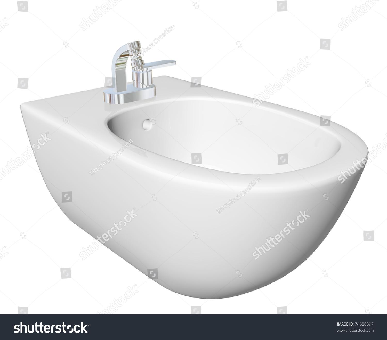 Round Bidet Design Bathrooms Type Sink Stock Illustration 74686897 ...