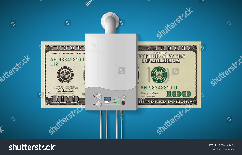 House Heating Concept Modern Home Gas Stock Vector 746966665 ...