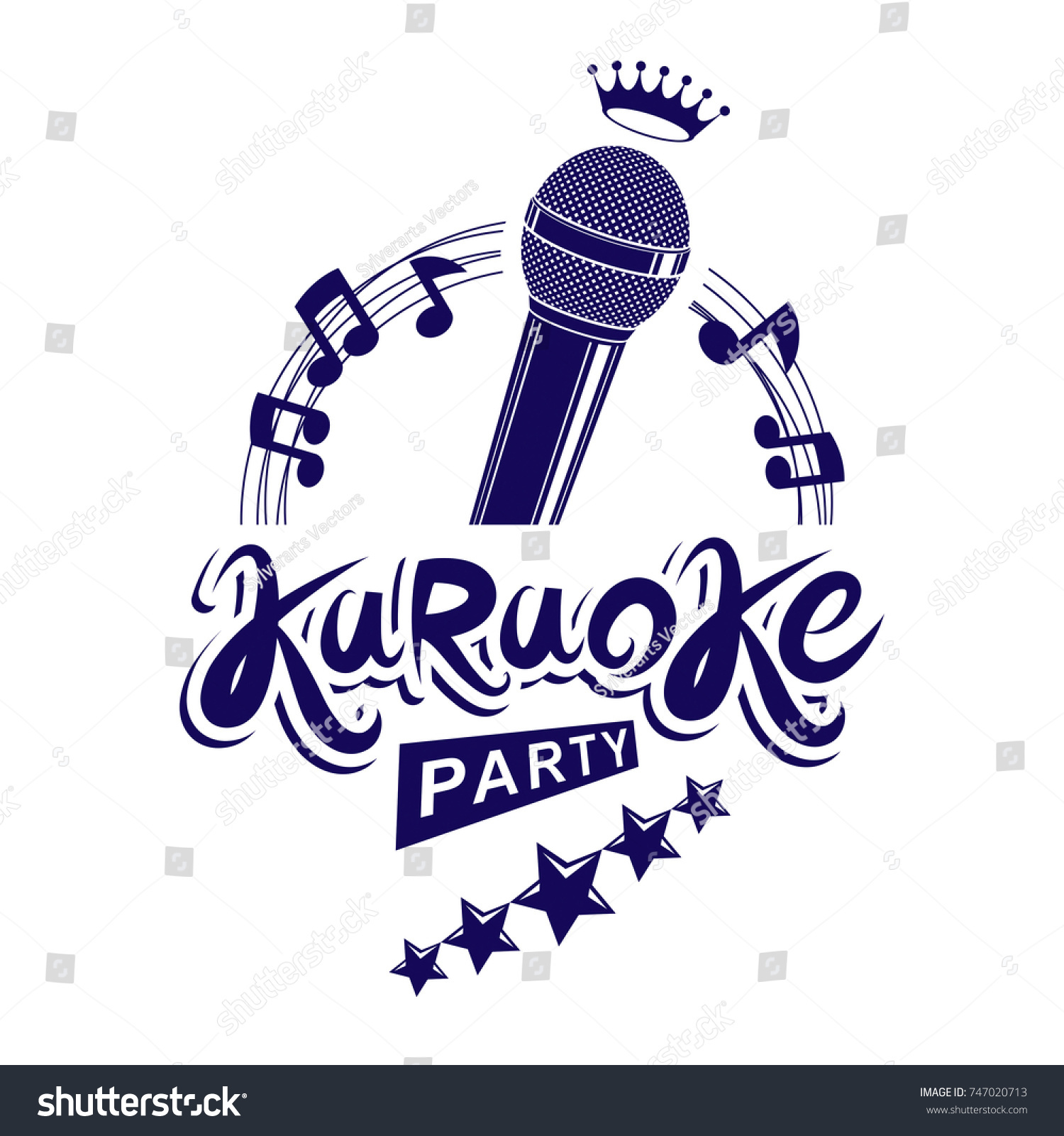 Karaoke Party Invitation Poster Live Music Stock Vector 747020713 ...
