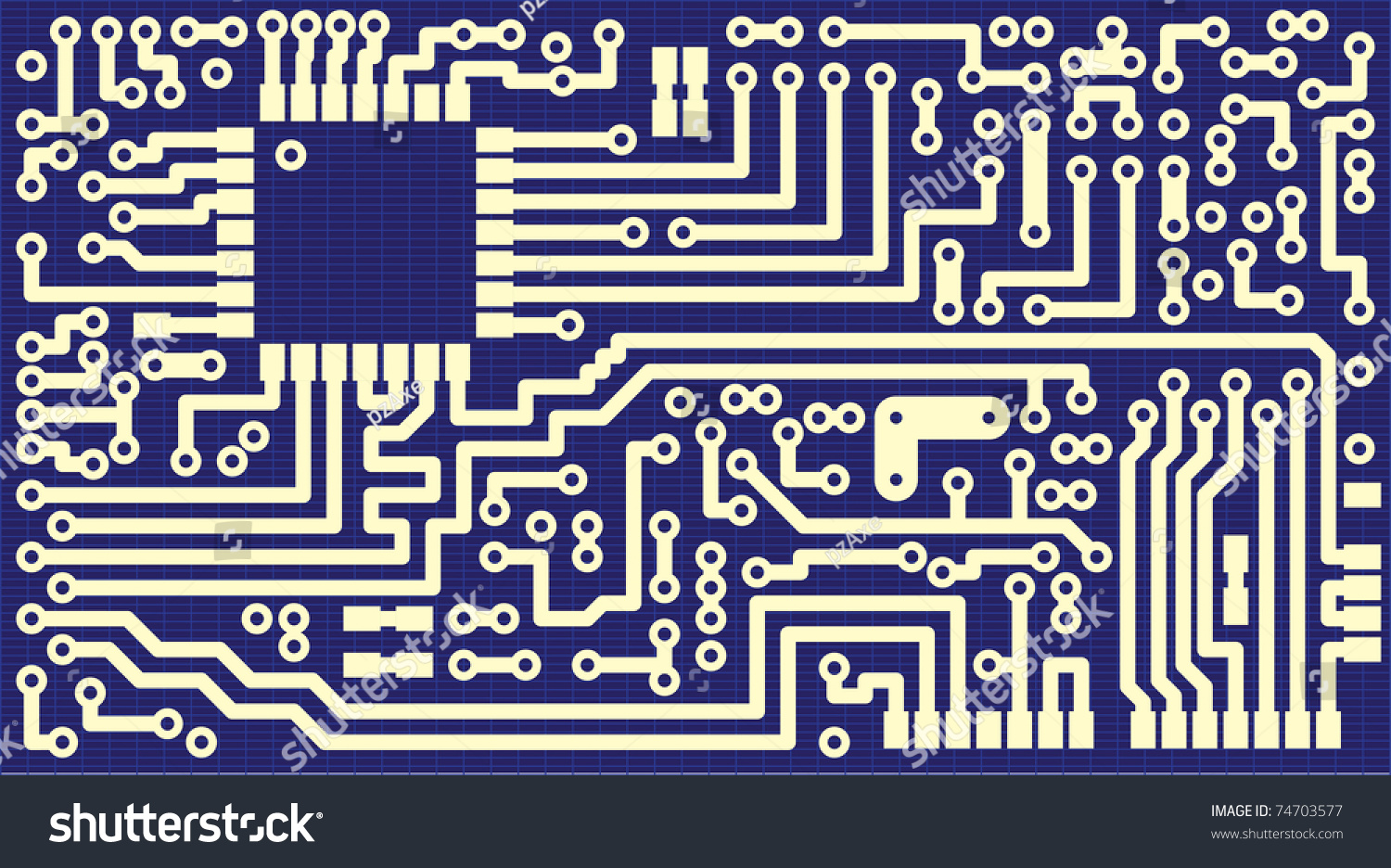 Background Business Cards Circuit Board Illustration Stock ...